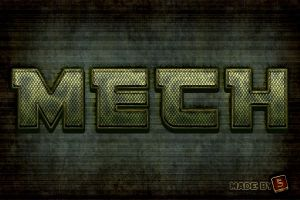 Mech-inspired Text Effect - FREE PS Tutorial by survivorcz