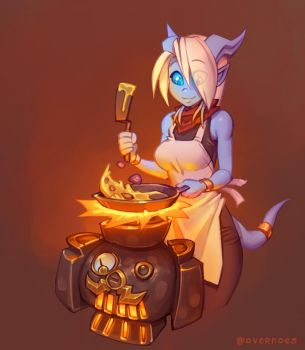 Draecember 14th - Cooking by Zeon-in-a-tree