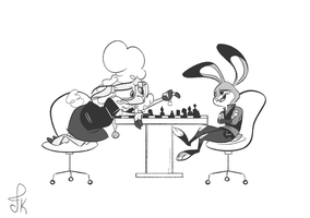 Chess with the Assistant Mayor by FluttershytheKind