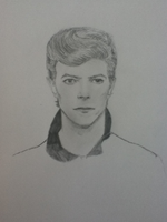 A not-so-good Bowie drawing... by JustSomeScribbles