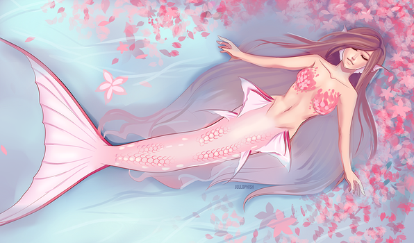 Dreaming Mermaid by jellophish