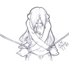 Tied up - Sketch by Thally