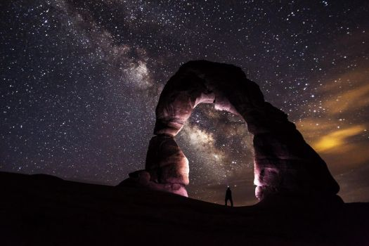 Midnight Skies - Natural Bridges National Monument by ROGUE-RATTLESNAKE