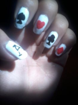 Playing Cards - Nail Art by Hatsunepie