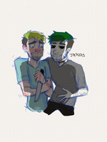 Jack and Anti (sketch) by Jackid13