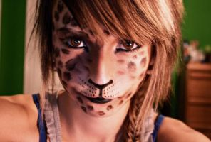 Izzi Cheetah makeup by Theryanskater7