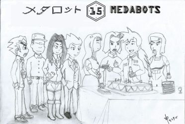 Medabots Anniversary by ebec89