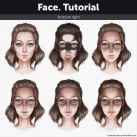 Face. Tutorial - Bottom light by Anastasia-berry