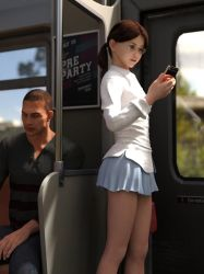 Kay is on the commuter train 03 by Hiroinchiba