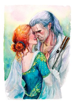 Geralt and Triss by LucioCrescent
