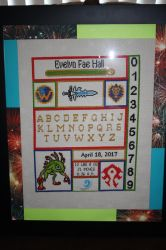 World of Warcraft Baby Birth Record FRAMED by NicMarRay