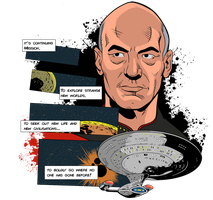 Star Trek Comic Tribute TNG by DaveMilburn