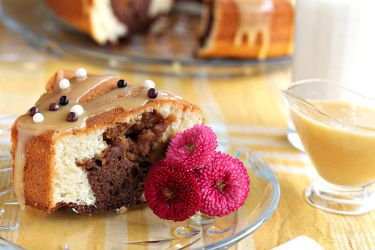 Cocoa cake with peanut butter by kupenska