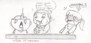 Dinner At Hannibal's by marshmallowkitty