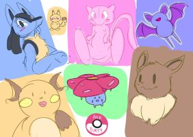 Pokemon sketches by askdirty