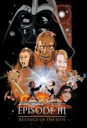 Revenge of the Sith caricature cover by TheCalvoArt