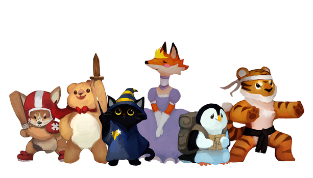 Nighty Knights - TinyD6 RPG Characters! by Hap-py