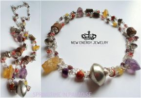 SPRINGTIME IN PARADISE energy necklace by NEWENERGYJEWELRY