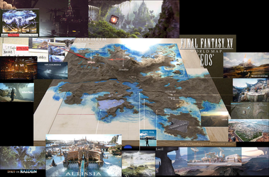 Final Fantasy XV - World Map : UPDATE III by NurBoyXVI