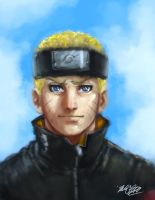 Naruto rough painting by Mark-Clark-II