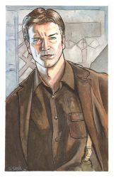 Captain Mal from Firefly Watercolor... by ssava