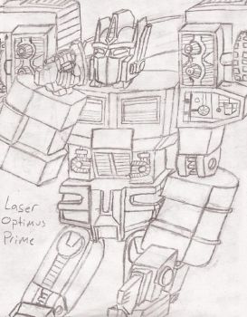 League of the Convoys: Laser Optimus Prime by UnicronHound
