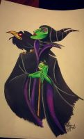Maleficent- Sleeping Beauty (Full Color) by Lustuad