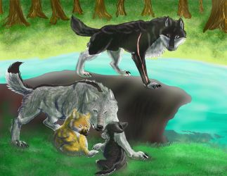 Wolf Family by Gerundive