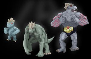 Machop and Machoke