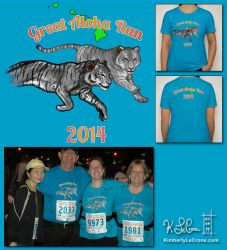 Custom Great Aloha Run 2014 T-Shirt by Dreamspirit