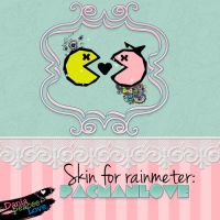 Skin For Rainmeter:PacmanLove by DaniaPeaceeLovee