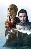 Game of Thrones - The Lion, Wolf and Dragon by HeroforPain