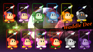 SSB5 Waddle Dee - Smash Palettes by ZaneTheDragon