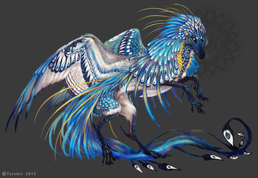 Florescent Blue Aragonite Feonix by NukeRooster