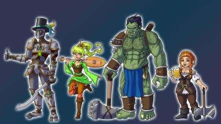 Wednesday Dungeons and Dragons group by dragonchilde