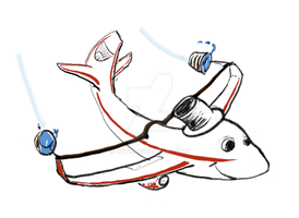 Airplane Mascot (sketch) by rtry