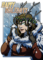 Happy Holidays!|Patron Postcard|December by CRFahey