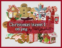 PNG: Christmas Items I by sellyourhate
