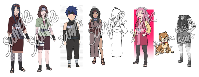 Naruto Adoptable Batch -CLOSED- by anniberri
