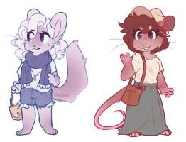 little rodent adopts (closed) by Keybladefire