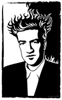 The hair is on fire (David Lynch portrait) by m7