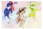 Hobblins_Guest Adopts (Flatsale, CLOSED) by BagelHero-Works