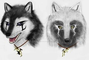 Wolf Brothers by totallyunmotivated