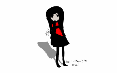 cute character dressed in red and black by elilvania