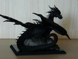 Shruikan (inspired by Ciruelo's Black Dragon) by maga-01