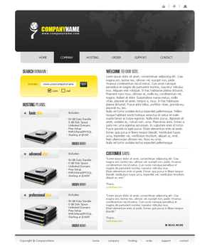Hosting Company Template 2 by LemuriaDesign