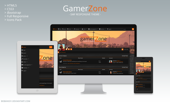 GamerZone SMF Responsive Theme by Boban031