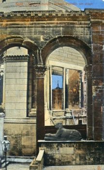 Vintage Europe - Diocletian's Palace Sphinx, Split by Yesterdays-Paper