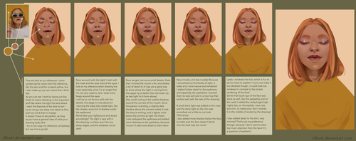 How to paint a portrait TUTORIAL by R0BUTT
