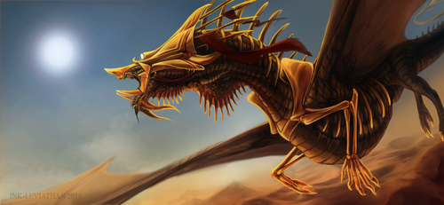 Desert King by Ink-Leviathan